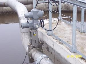 Aplicatii AUMA in alimentarile cu apa